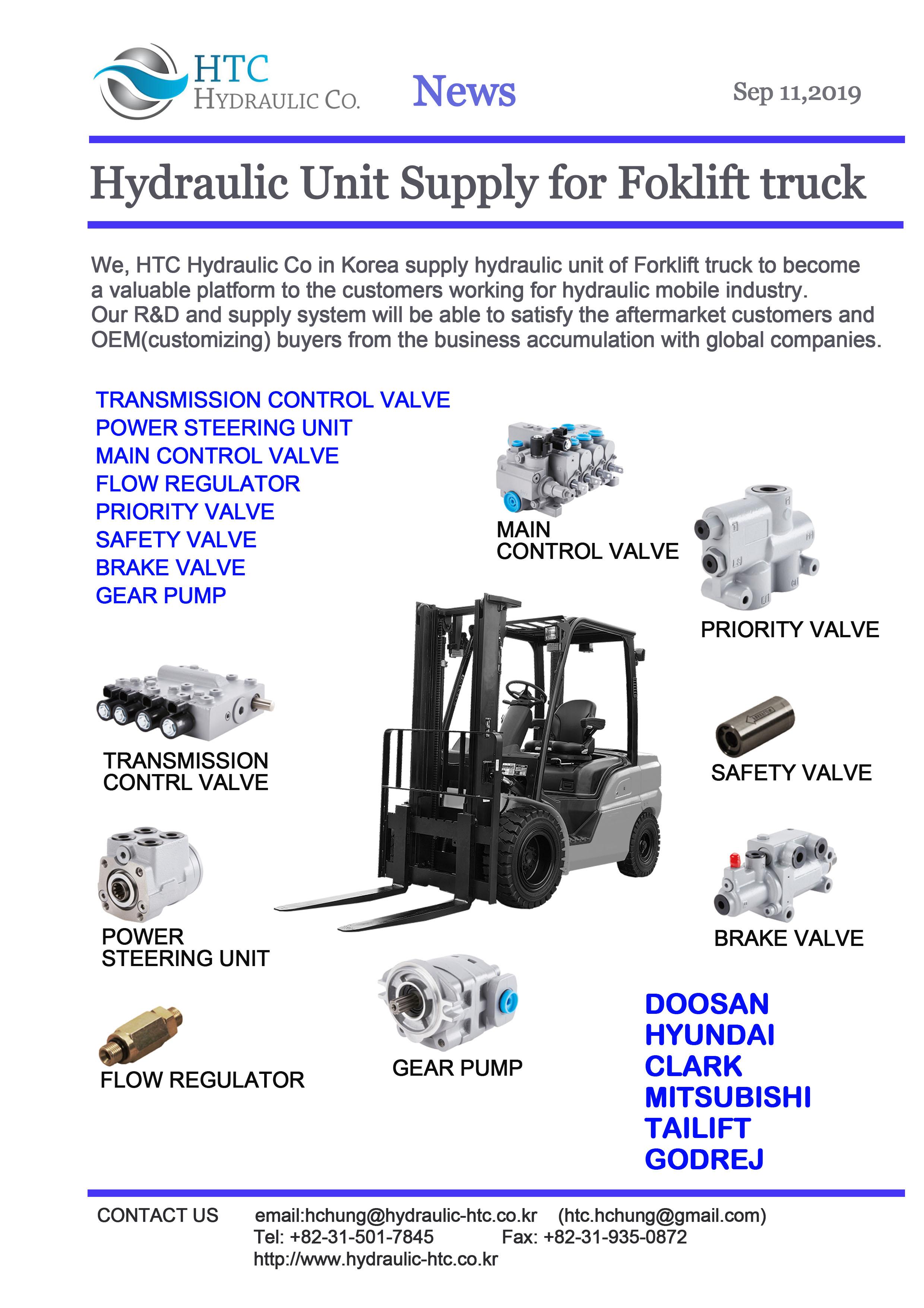 forklift truck hydraulic unit